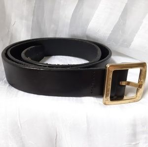 Vintage Coach Belt Large Black Leather